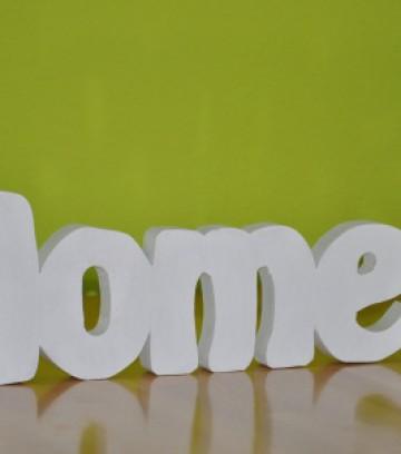 Schriftzug Home klein