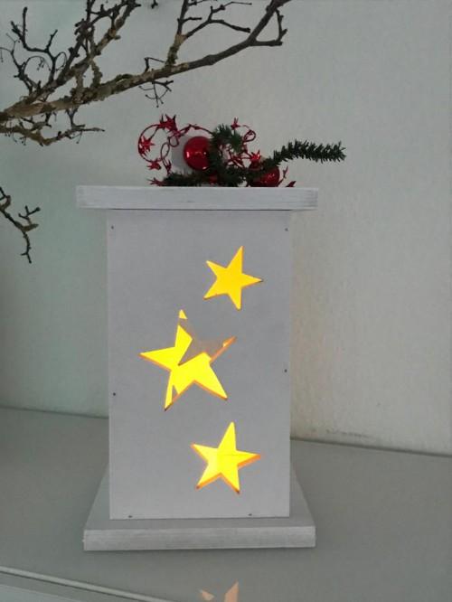 weihnachtslampe weiss